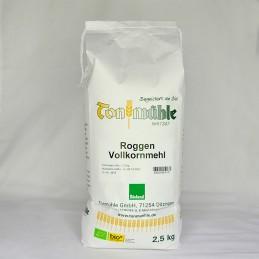 Bioland Roggen-Vollkornmehl - 2,5 kg