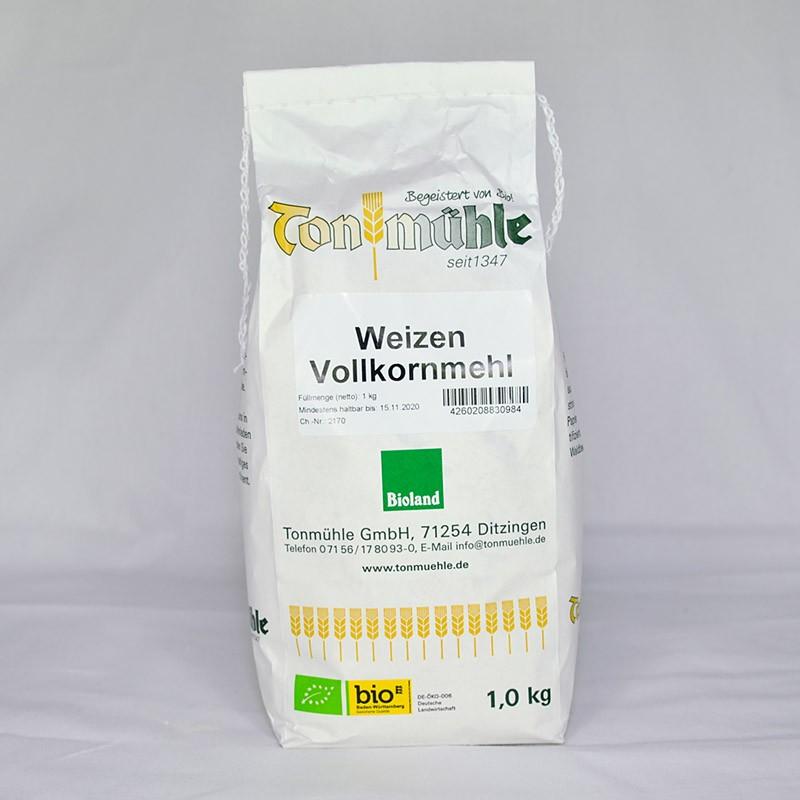 Bioland Weizen-Vollkornmehl - 1 kg