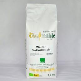 Bioland Weizen-Vollkornmehl - 2,5 kg