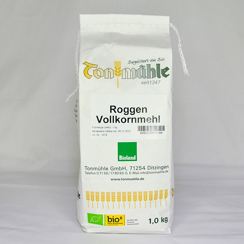 Bioland Roggen-Vollkornmehl - 1 kg