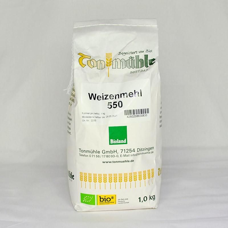 Bioland Weizenmehl 550 - 1 kg