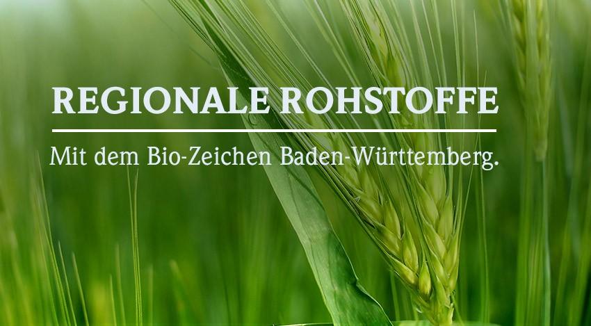 Regionale Rohstoffe mit dem Bio-Zeichen Baden-Württemberg